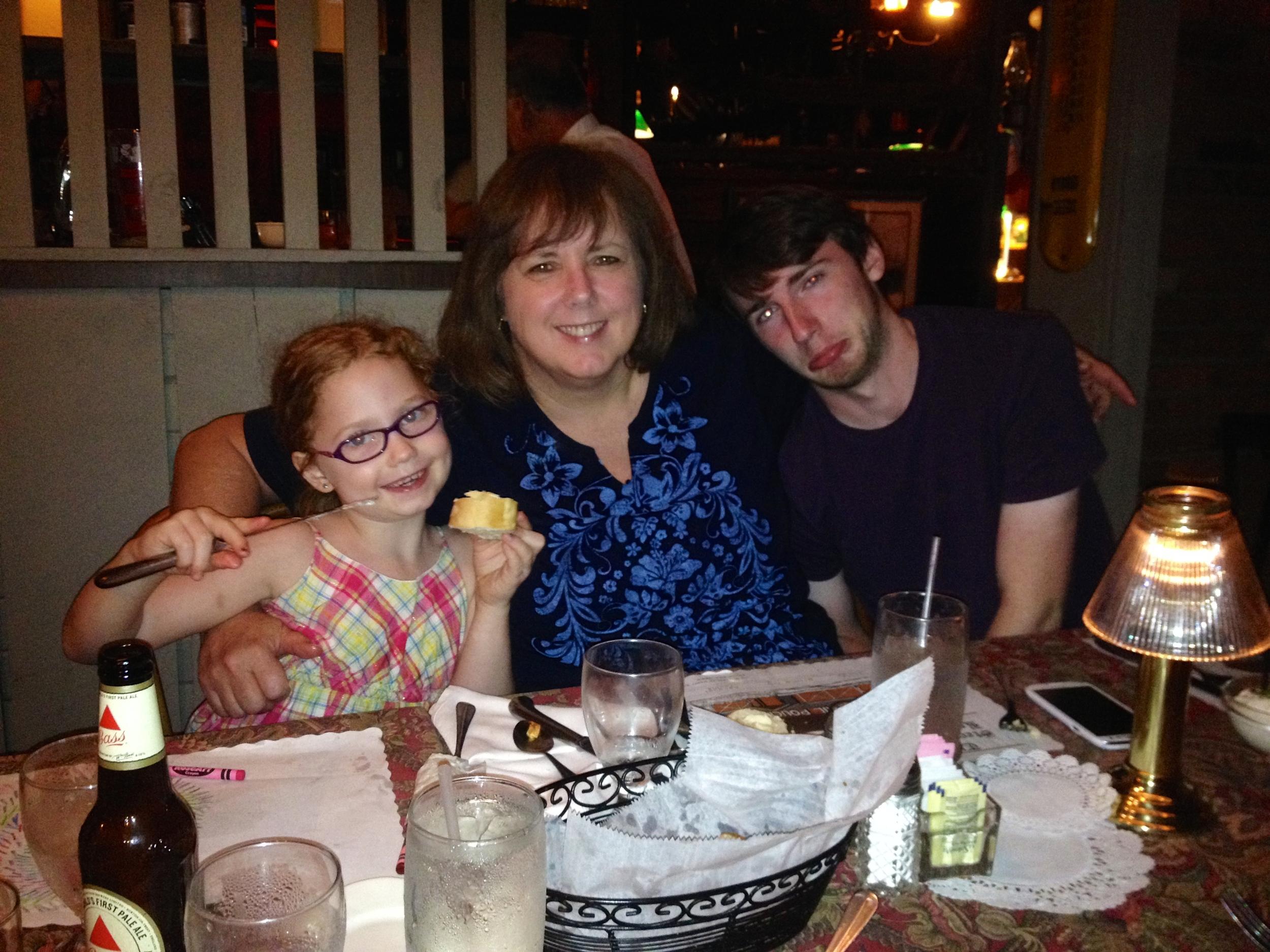 Seth was sad Nori and Grammy ate all the garlic toast!
