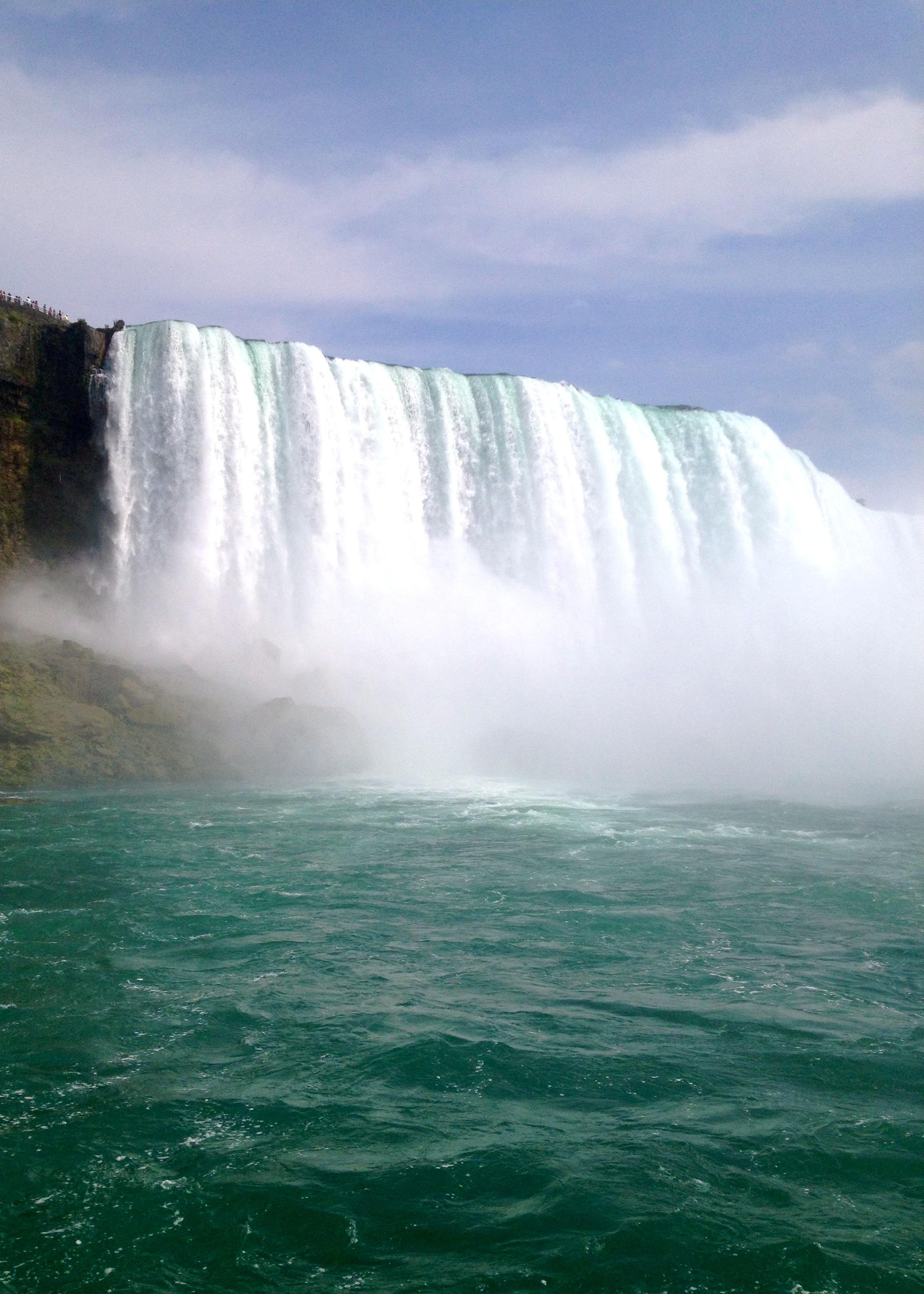 Niagara Falls from the boat.