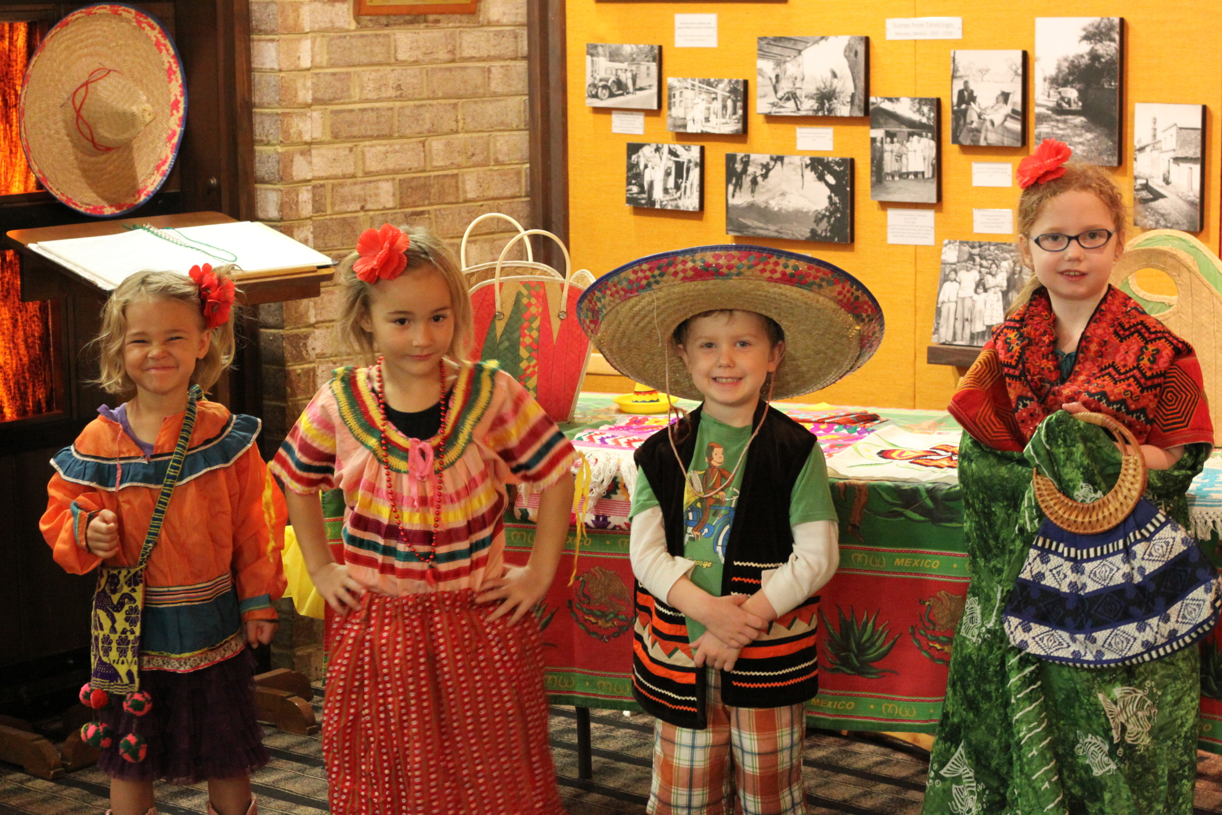 Banner and Nori with Lexi and Reni at the Mexico Museum at JAARS