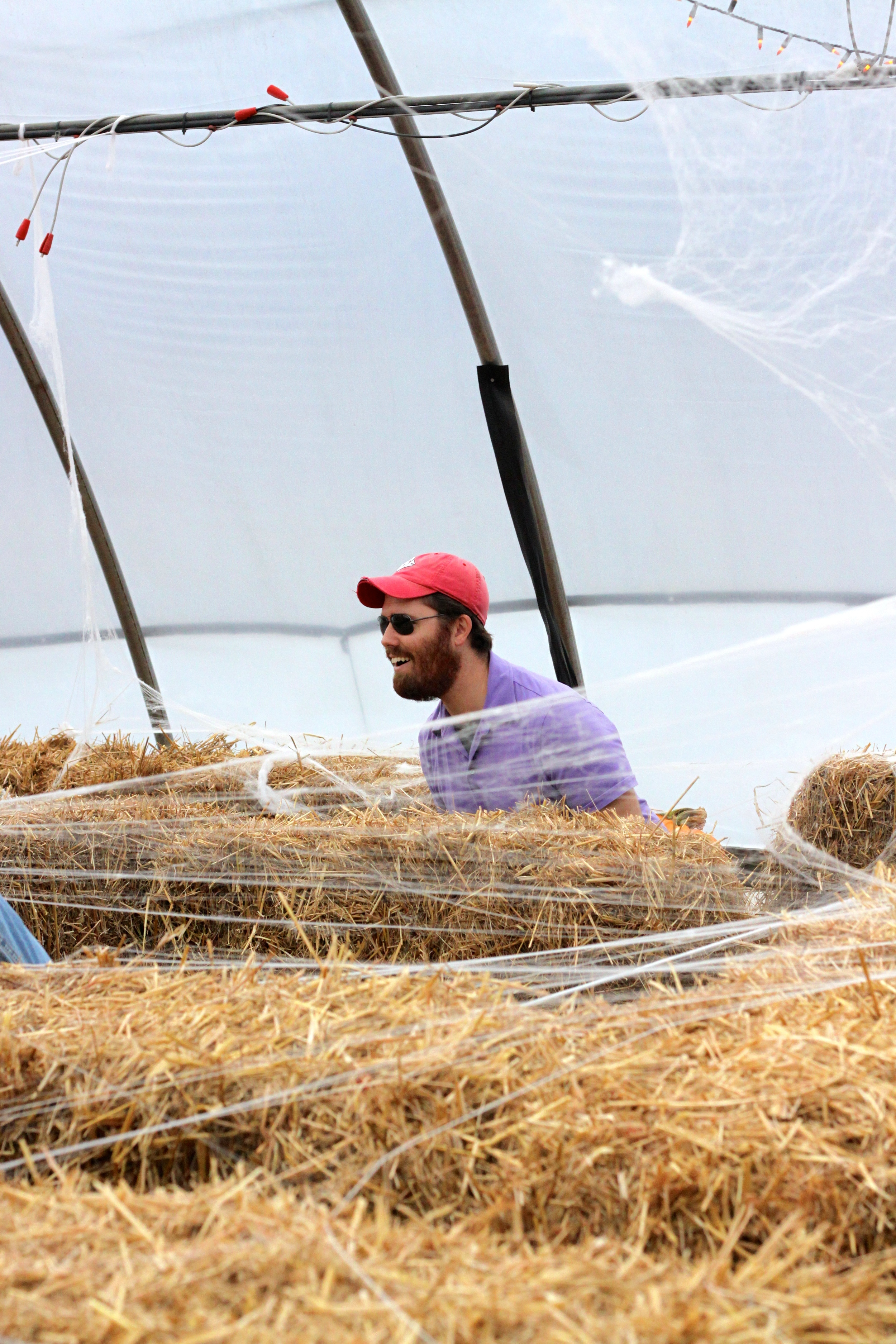 it took John 3 hours to find his way out of this kids hay maze ;)