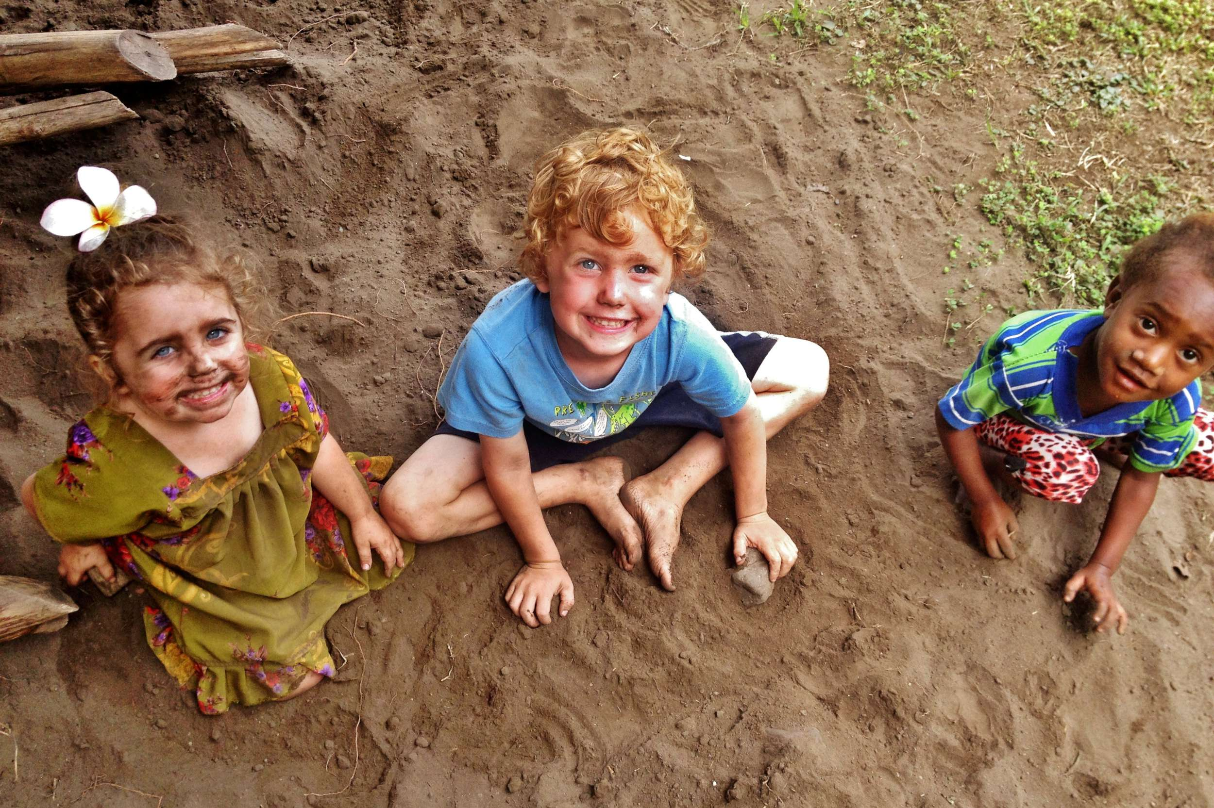 The kids took great delight in getting dirty whenever possible.