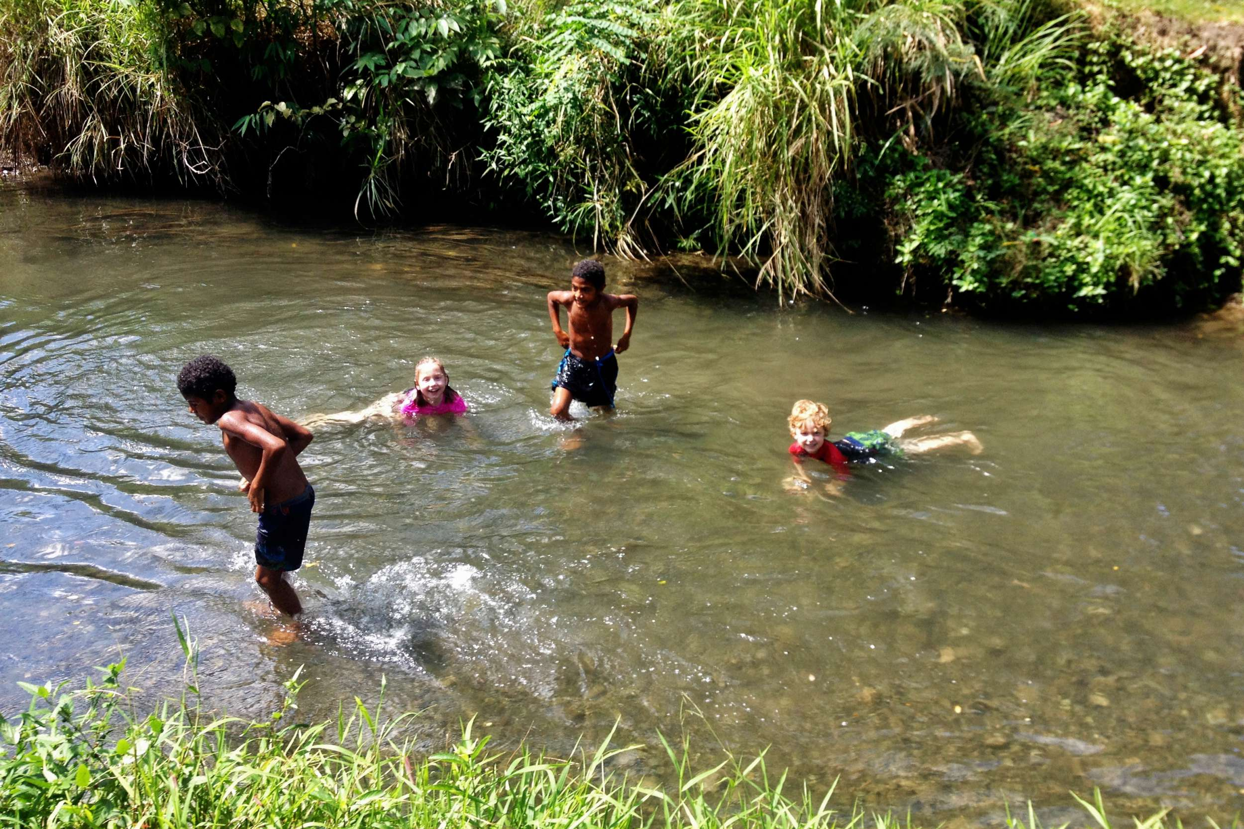 """We took a PMV to """"Clean Water"""" which was this swimming hole about 15 minutes away. There were about 30 of us that went—all of them our family!"""