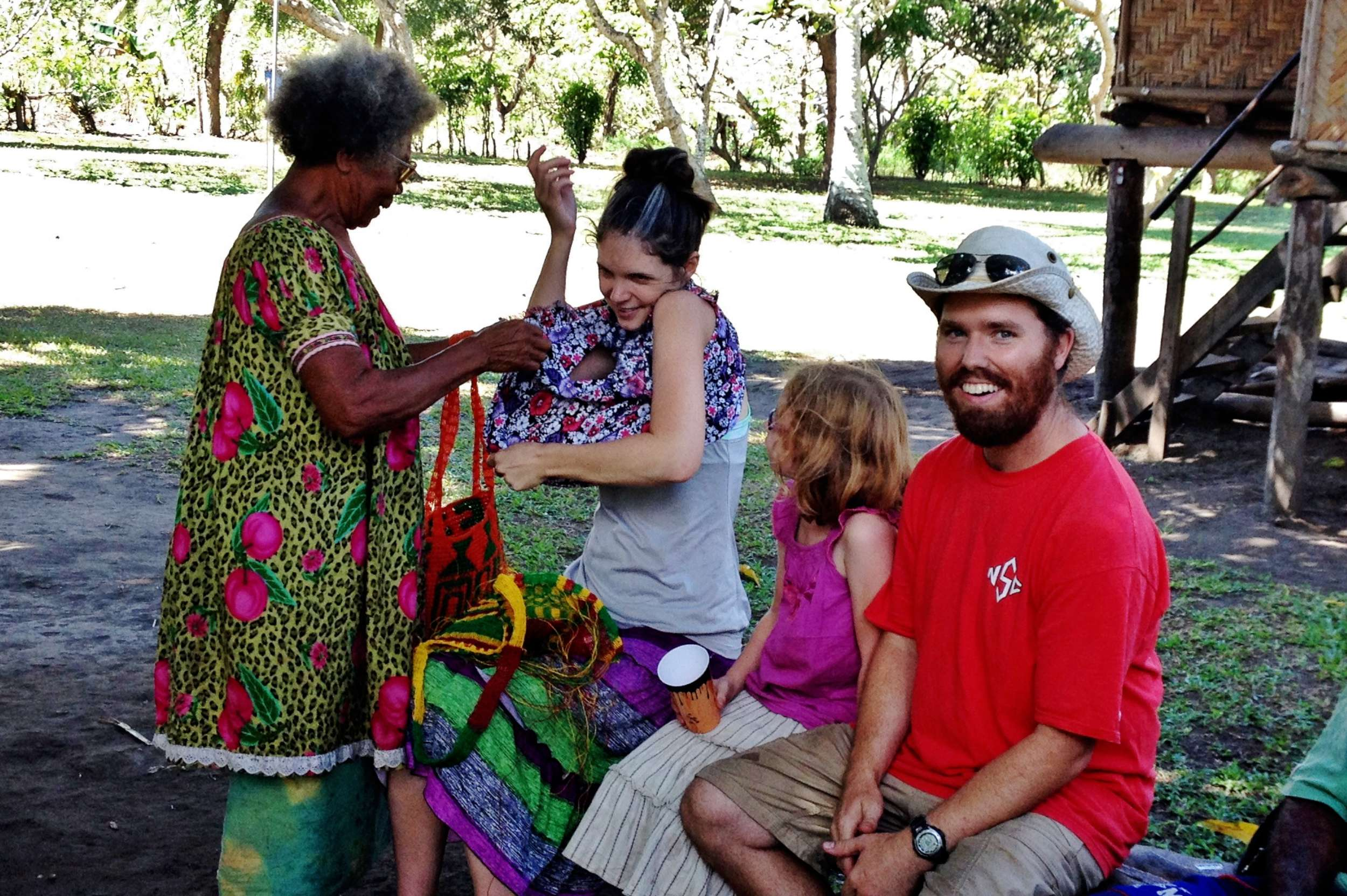 Yali gives Kristi a meri blaus (one of many!).  Our family was incredibly generous from the inside out.