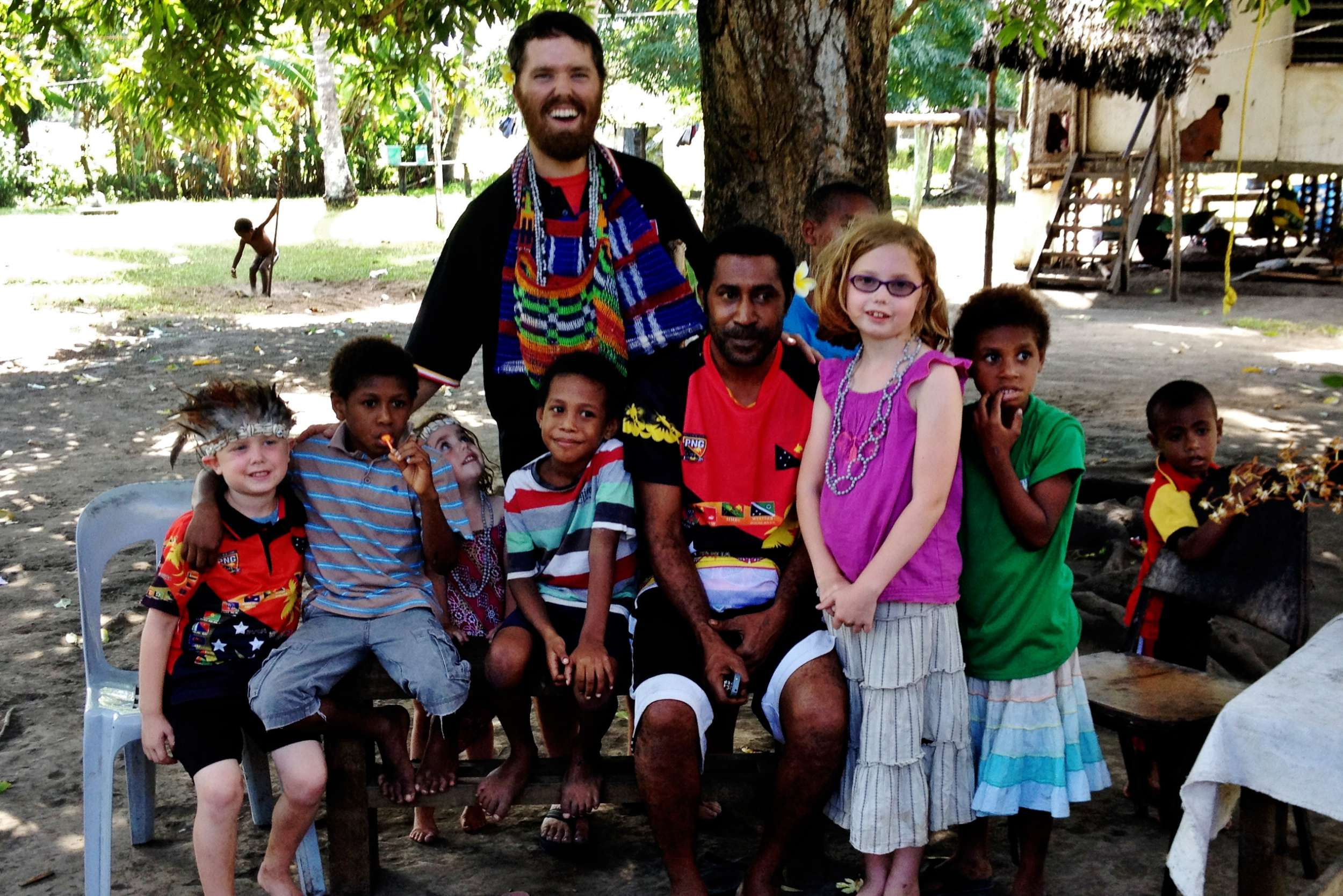 John with Ariki and many others. Ariki and his family were close family friends and he was alsoone of the teachers at the primary school with Suzanne.