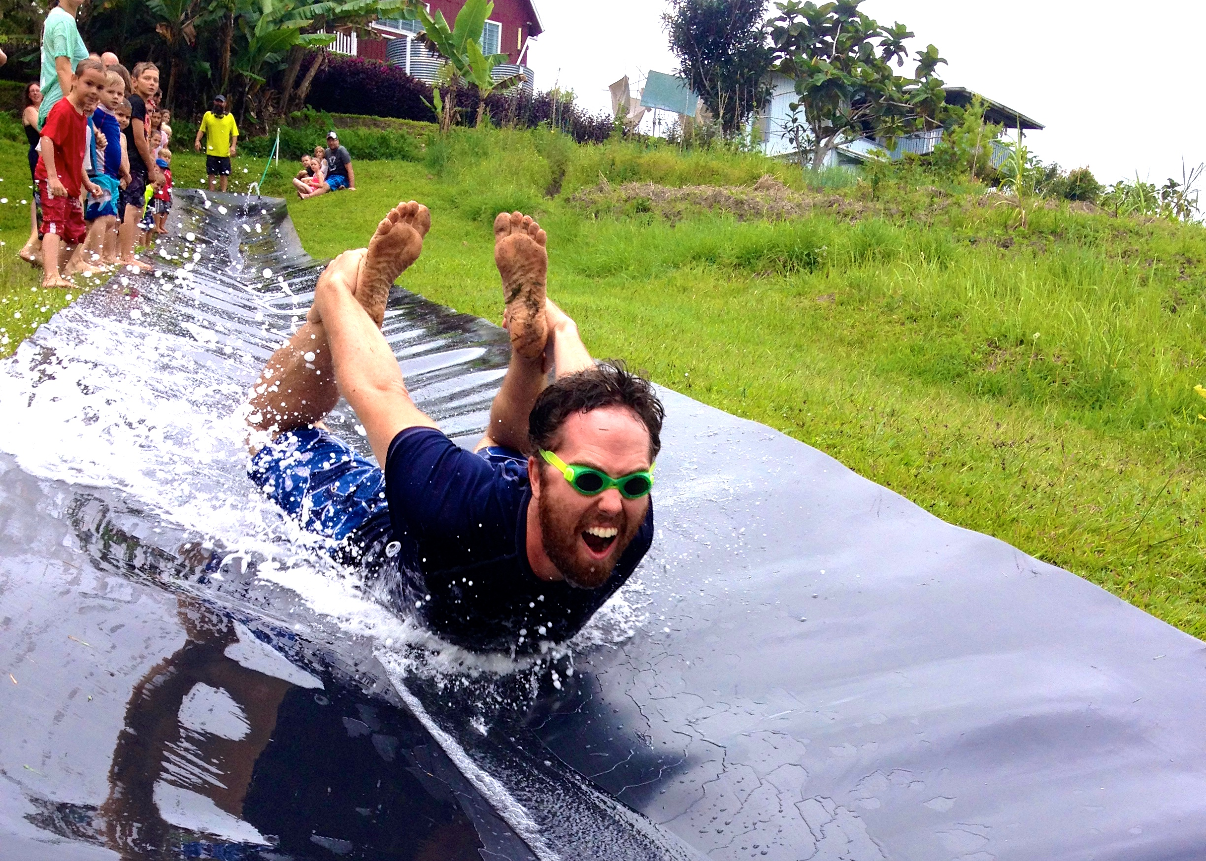 This picture of John at his slip and slide birthday party captures the feel of our life here. It is a full throttle adventure that you have to dive into head first, and when you do then you get the joy that comes with living on the edge in God's Story. (Note:the slip and slide is an old airport conveyor belt; we recycle everything here!)