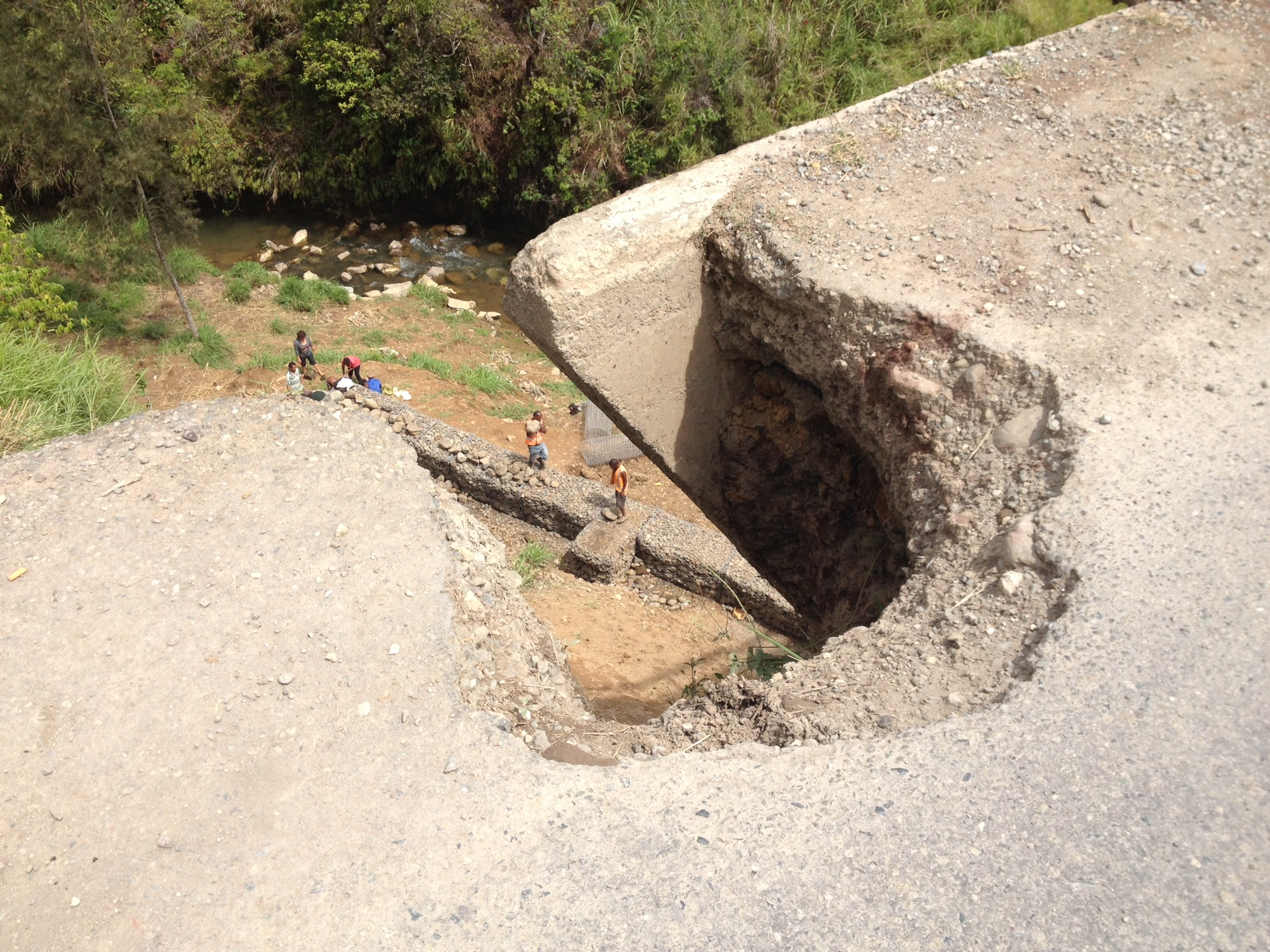 Possibly the world's deepest pothole.