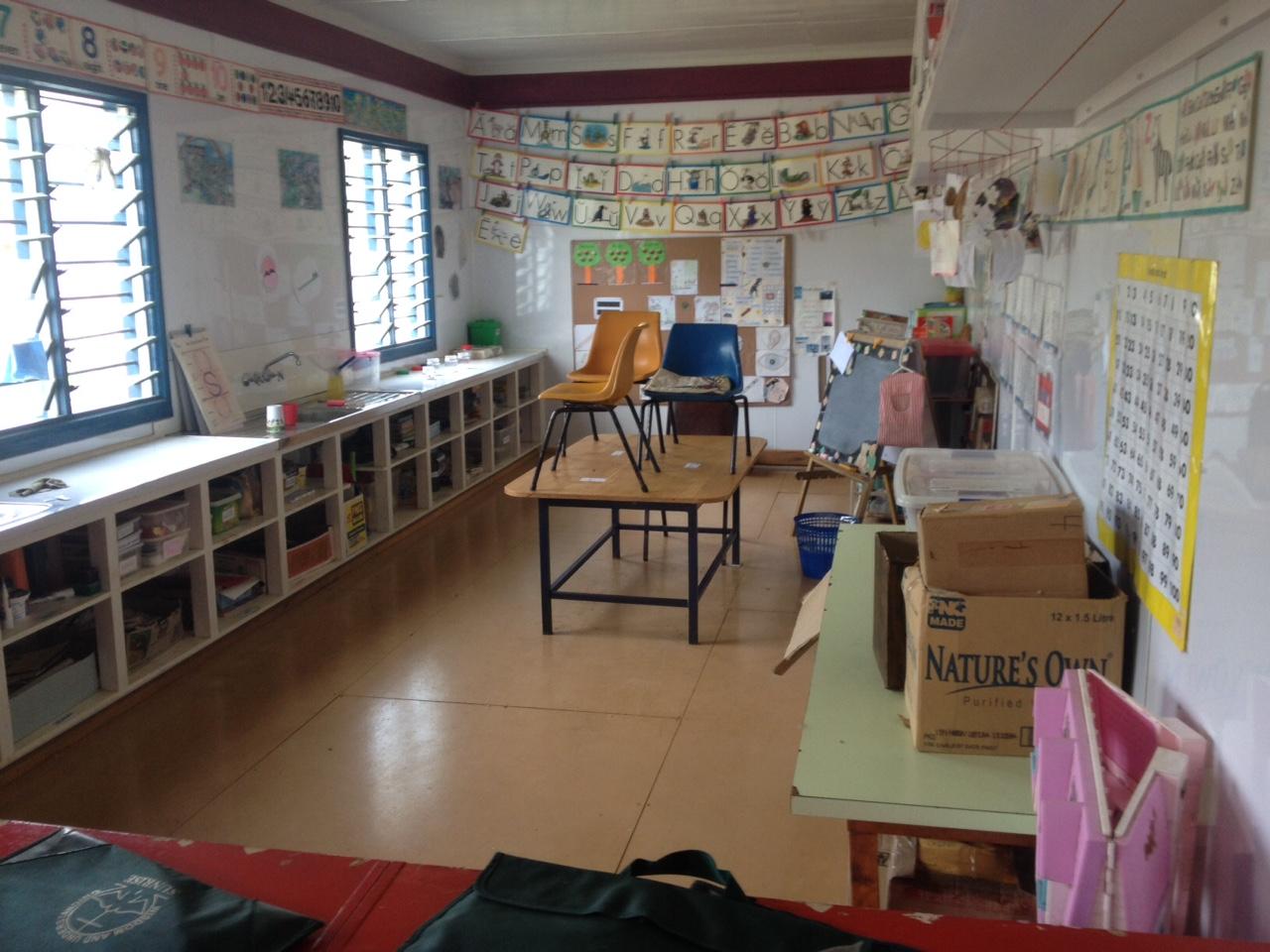 The kindergarten classroom