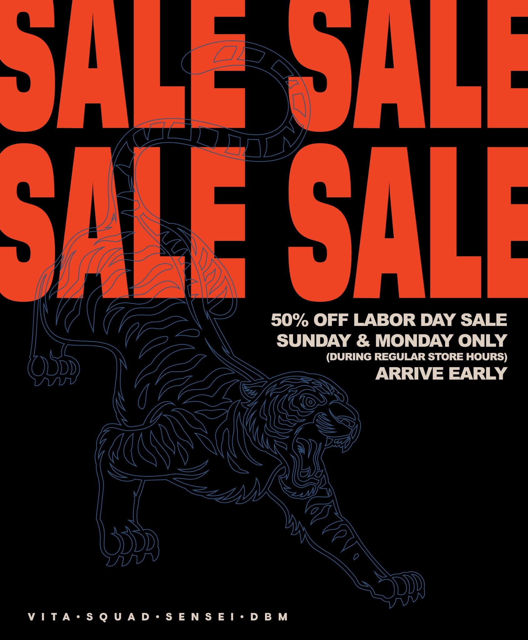 LAST DAY OF THE LABOR DAY SALE!!!  *IN STORE ONLY
