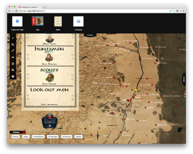 Taming The One Ring (in Roll20) — The One Ring