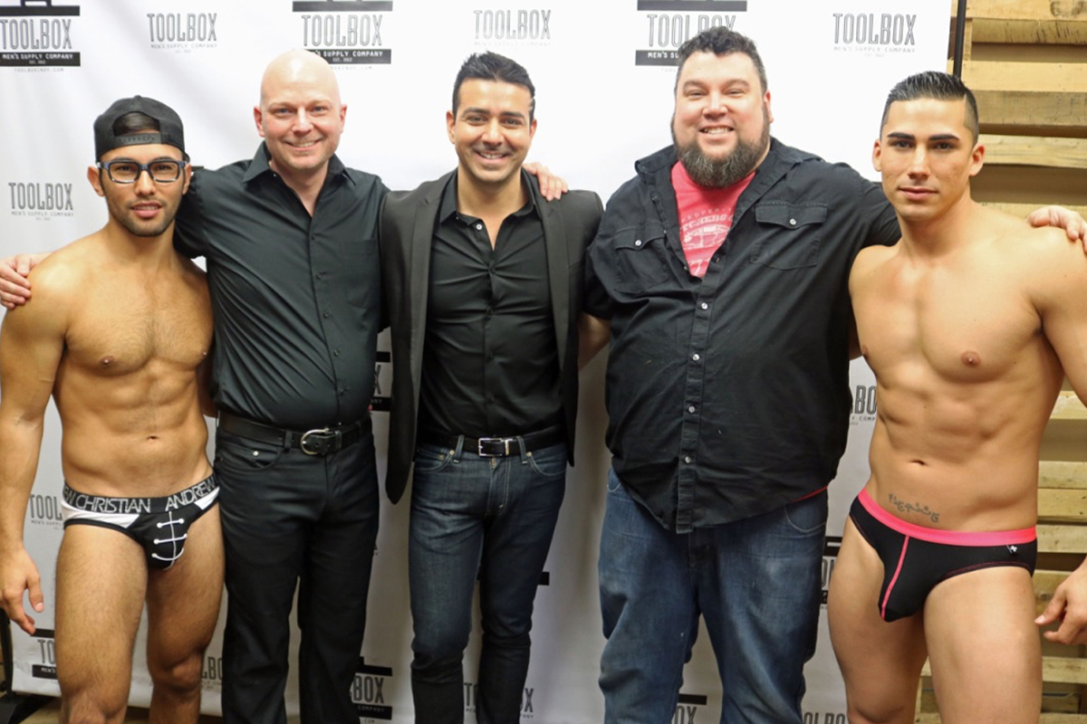 FROM LEFT: URIEL RAMIREZ, GREGORY GILMORE (TOOLBOX OWNER), ANDREW CHRISTIAN, CARLOS CAIN (TOOLBOX OWNER), TOPHER DIMAGGIO