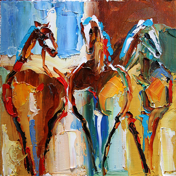 Horse 72 Trio by Laurie Pace ©2014