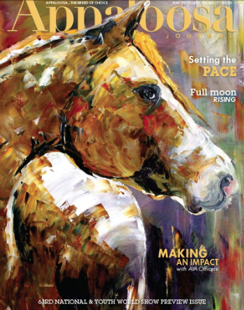 Front cover of Appaloosa Journal Making an Impact Painting by Laurie Pace