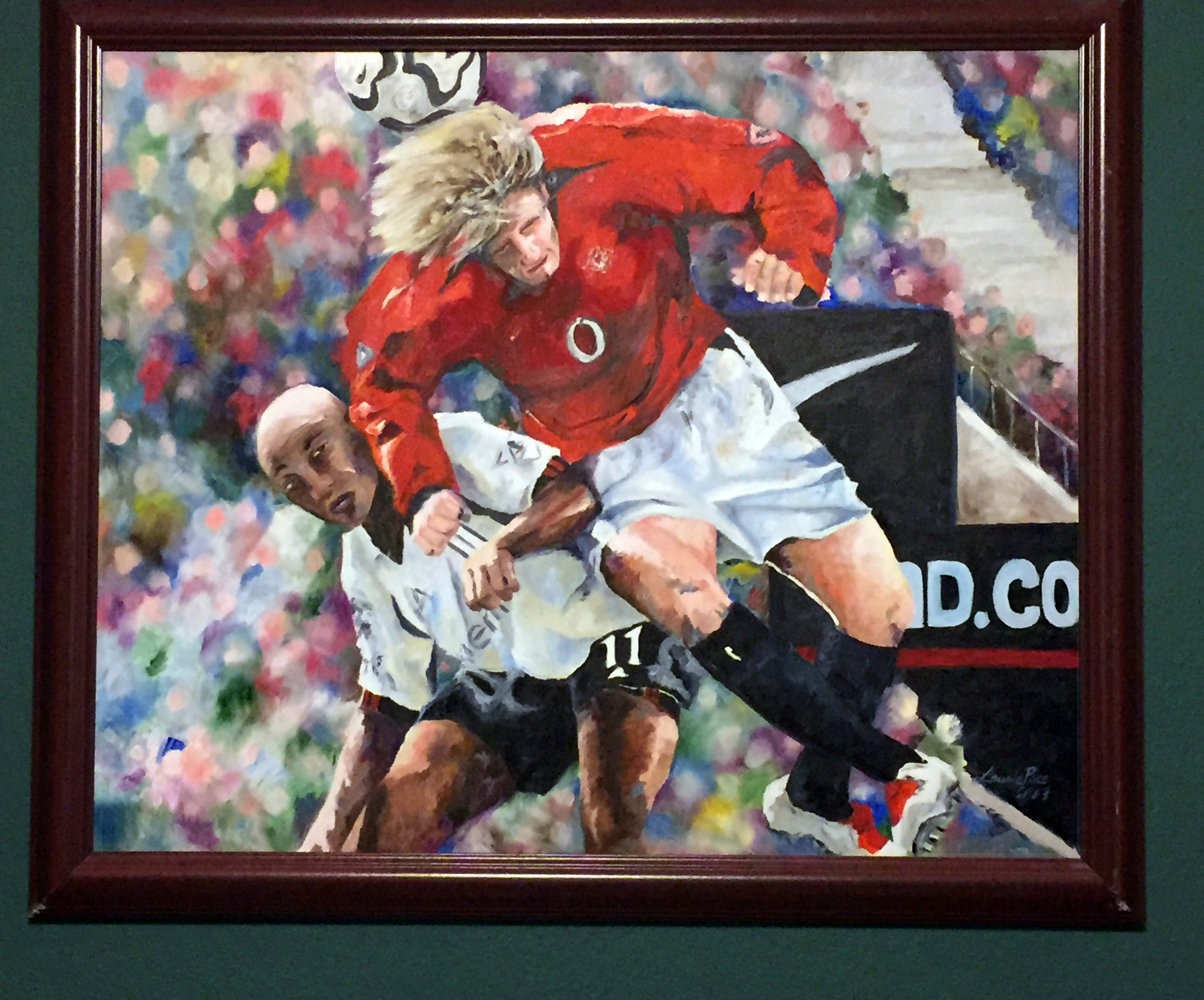Soccer Painting by Texas Artist Laurie Pace