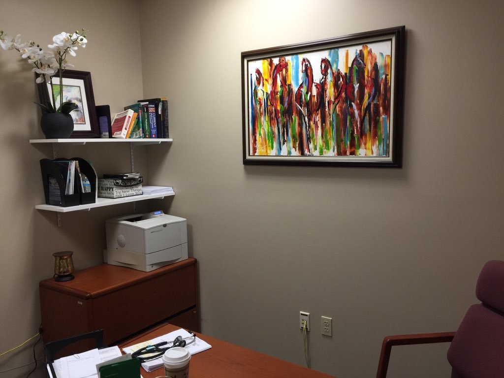 Doctors Office Horse Painting