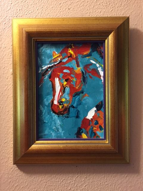 Small Collectible Horse Paintings by Laurie Pace