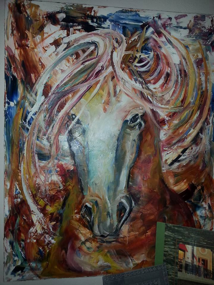 An older look in horses by Laurie Pace.