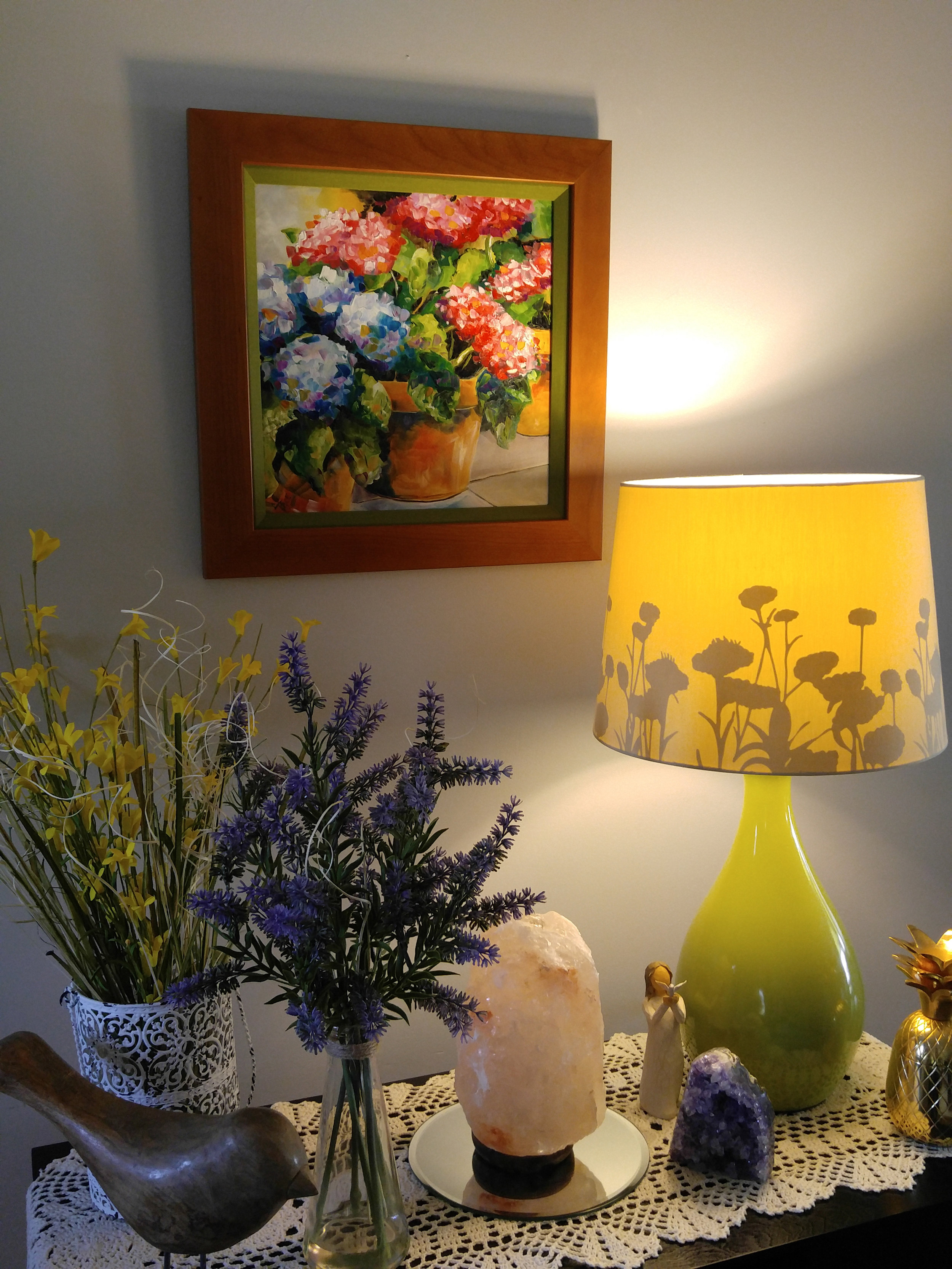 Small commission Flower painting by Texas Artist Laurie Pace