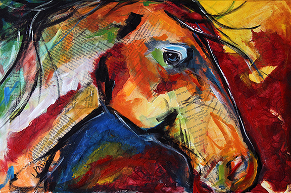 Horse Collage © Laurie Pace 2013