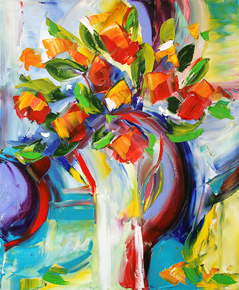 Blooms 16 x 20 Oil © Laurie Pace 2013 Sold