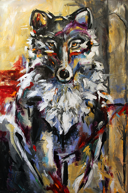 Lone Wolf  Sold by Laurie Pace © 2013