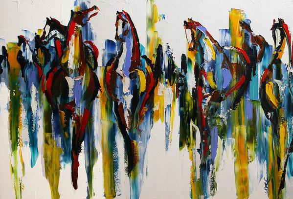 Herd of Carousel Ponies 30 x 40 .jpg