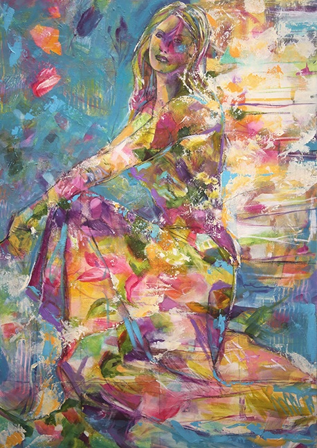 Both Sides of the Story 29 x 42 inches Mixed Media © Laurie Pace