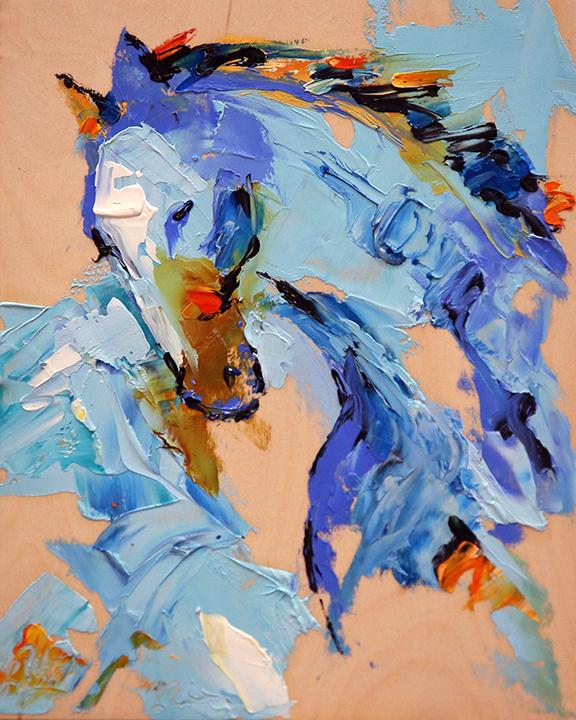Blue Velvet  8 x 10 Oil on Birch © Laurie Pace 2019