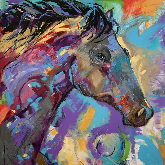 Lonely Boy Horse Painting by Texas Artist Laurie Pace.jpg