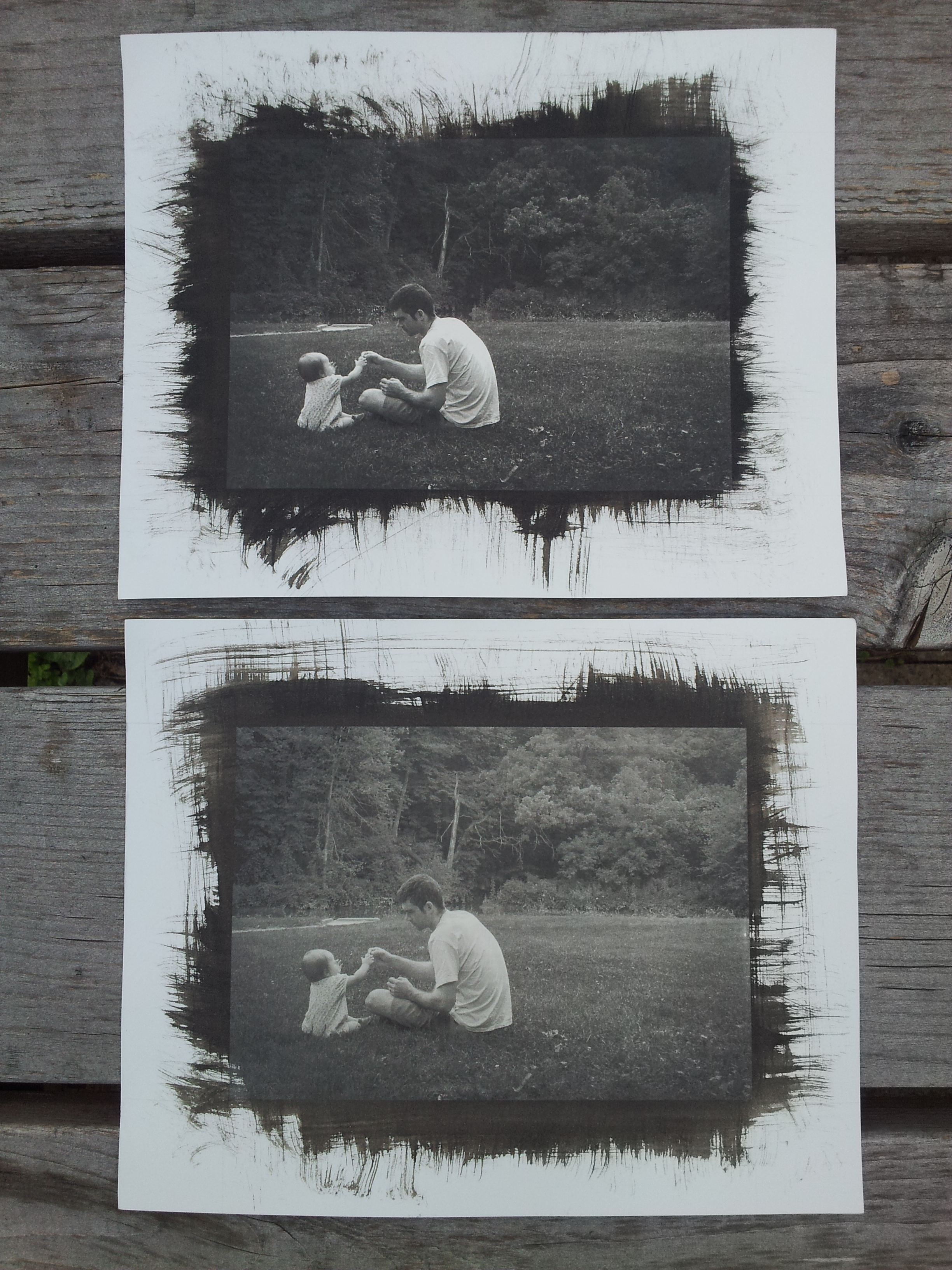 Platinum Palladium prints. The top one was printed from a digital negative with more contrast.