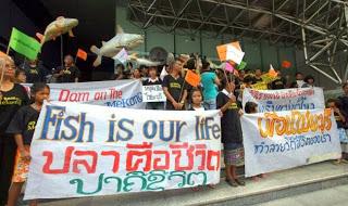 Protests against the Xayaburi Dam, Laos. nationmultimedia.com