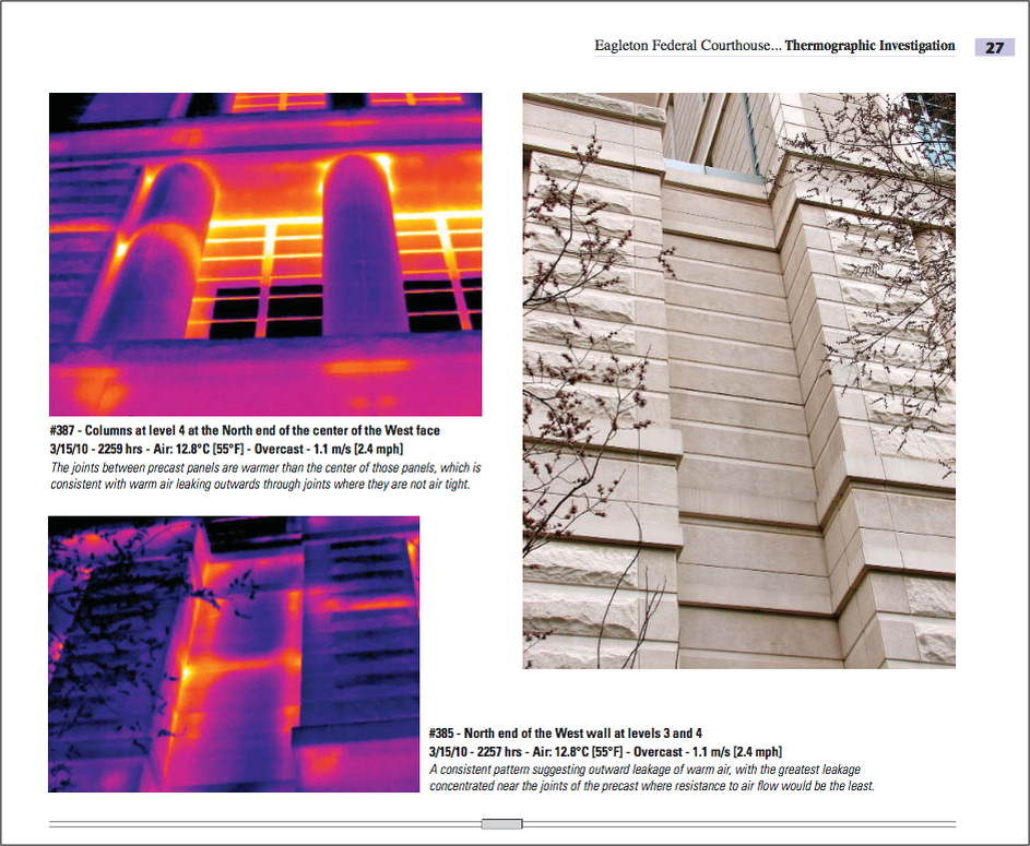 Often, thermal cameras are useful in diagnosing and finding solutions to problems in buildings that result from design and construction defects, and also from complex interactions between the building's HVAC systems and its exterior enclosure.
