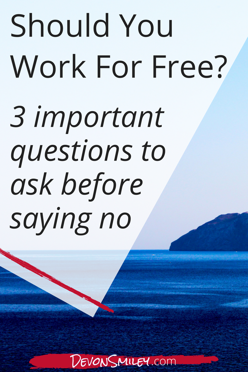 should you work for exposure instead of payment?
