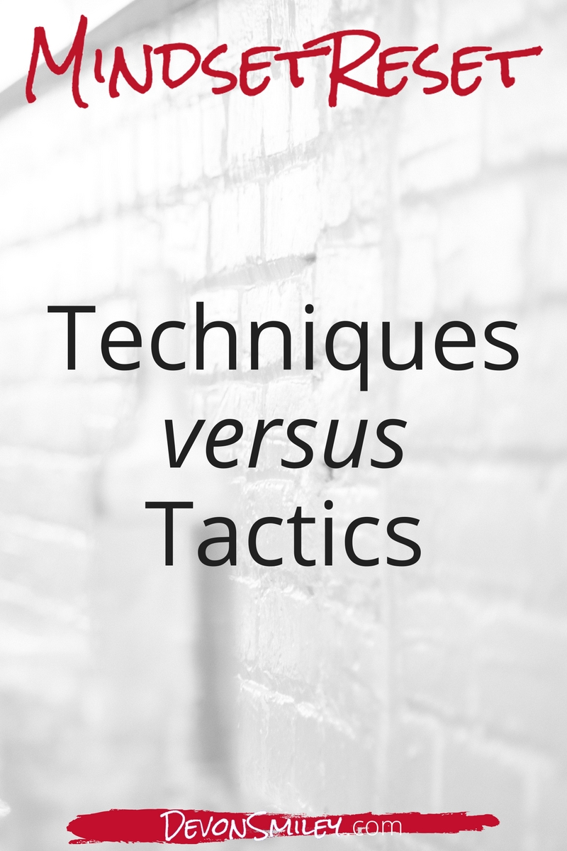Negotiation techniques not tactics