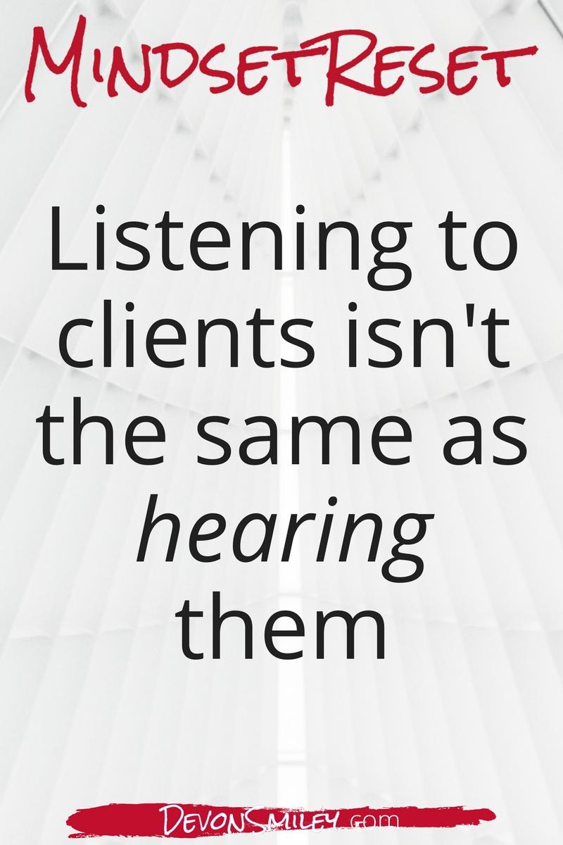 mindset hearing versus listening