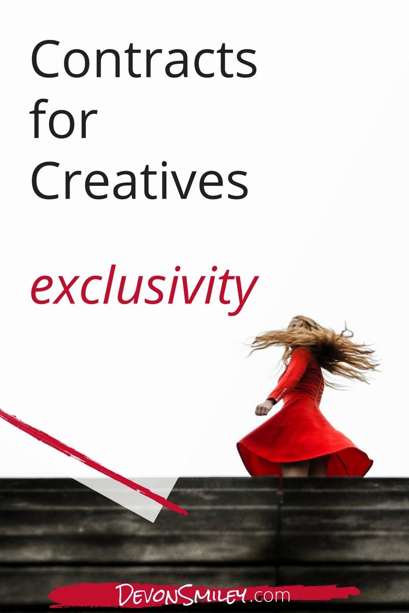 contract exclusivity creative entrepreneurs
