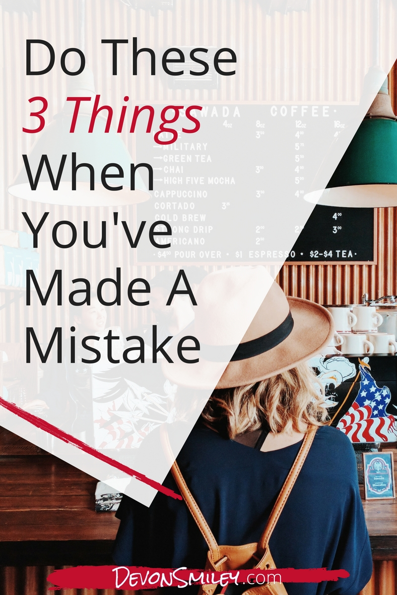 Making a mistake can leave you a little blue...and red with embarrassment. But it's how you handle it afterwards that will build your credibility and improve your professional reputation.