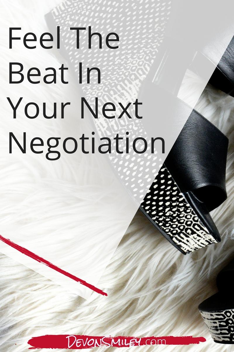 find your negotiation rhythym