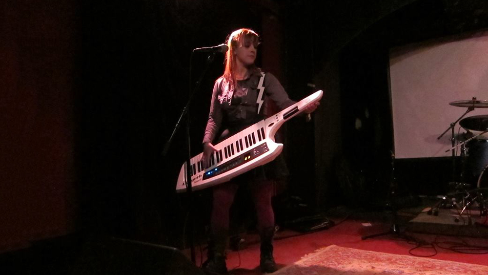 We didn't actually talk about this, but Maddy also plays a mean keytar