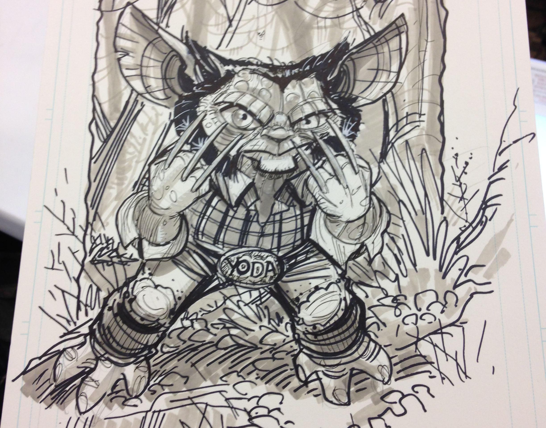 """""""Yoda as a superhero"""" by  Nick Bradshaw"""