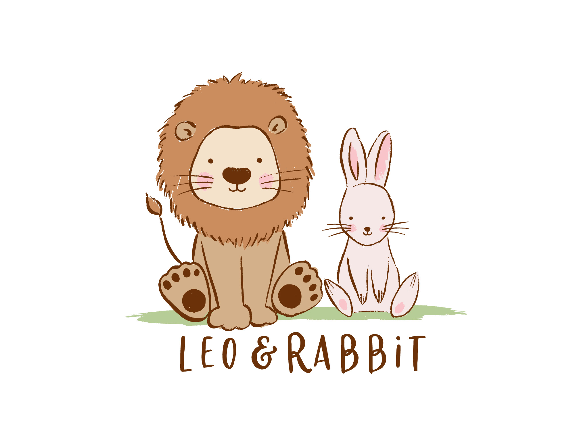 Leo & Rabbit logo illustration
