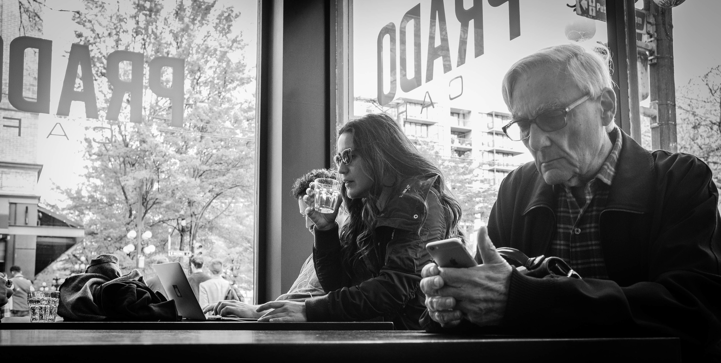 Prado Cafe Gastown, Vancouver Fuji X100T 4.16