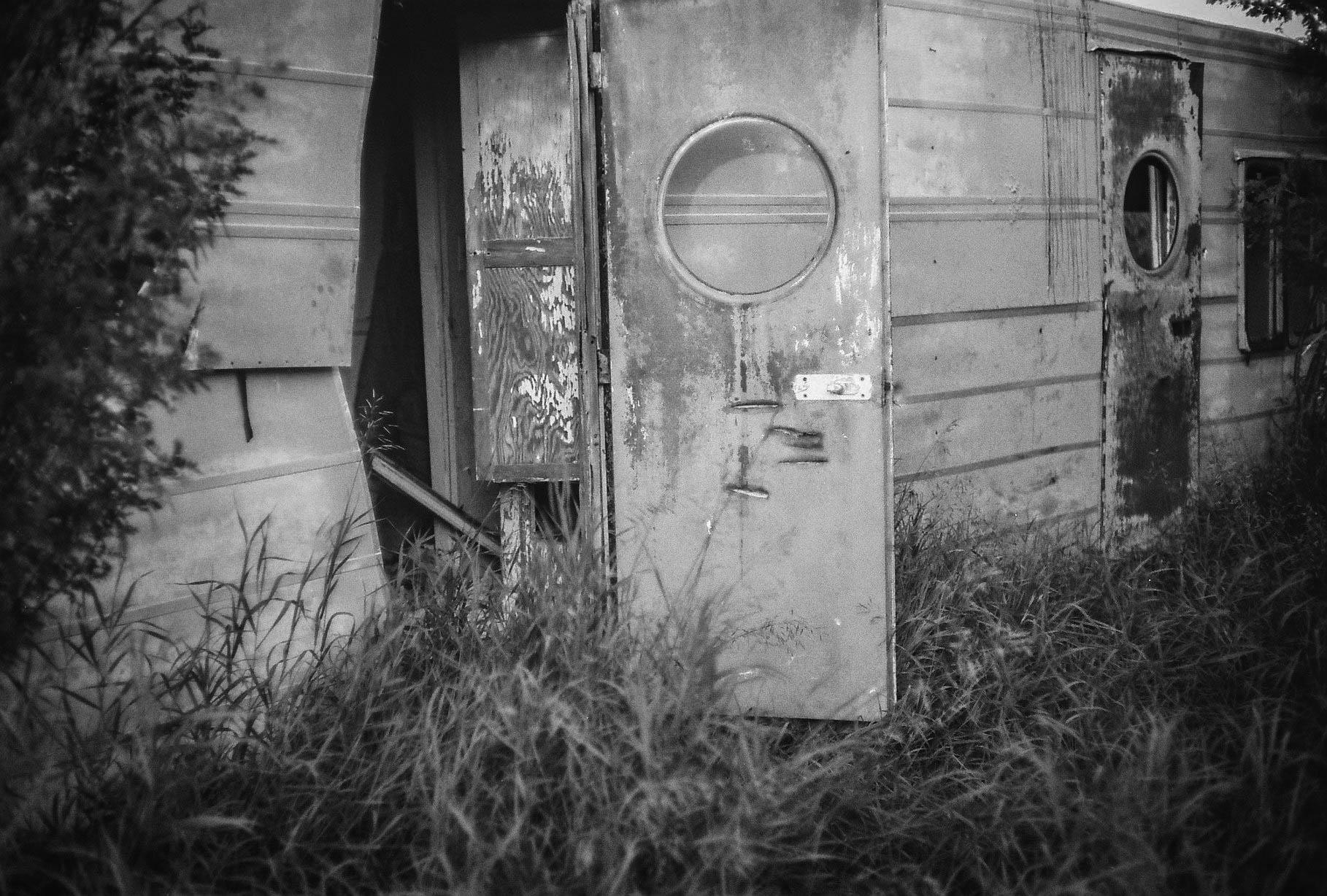 Abandoned trailer Bulwark, Alberta Leica M3, Canon 50mm F1.4 Ilford Pan F Plus 50 film 7.16