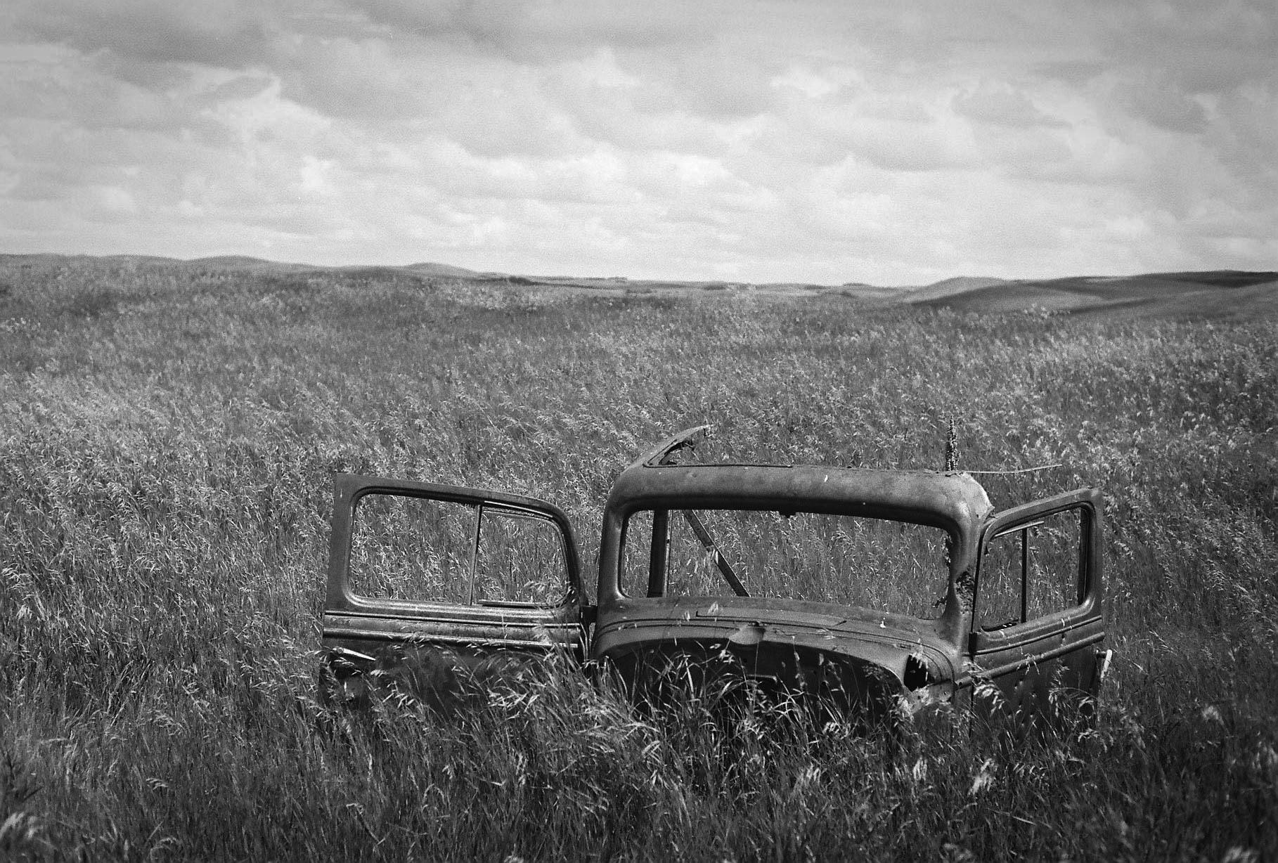 Truck cab Hanna, Alberta Leica M3, Canon 50mm F1.4 Ilford Pan F Plus 50 film 7.16