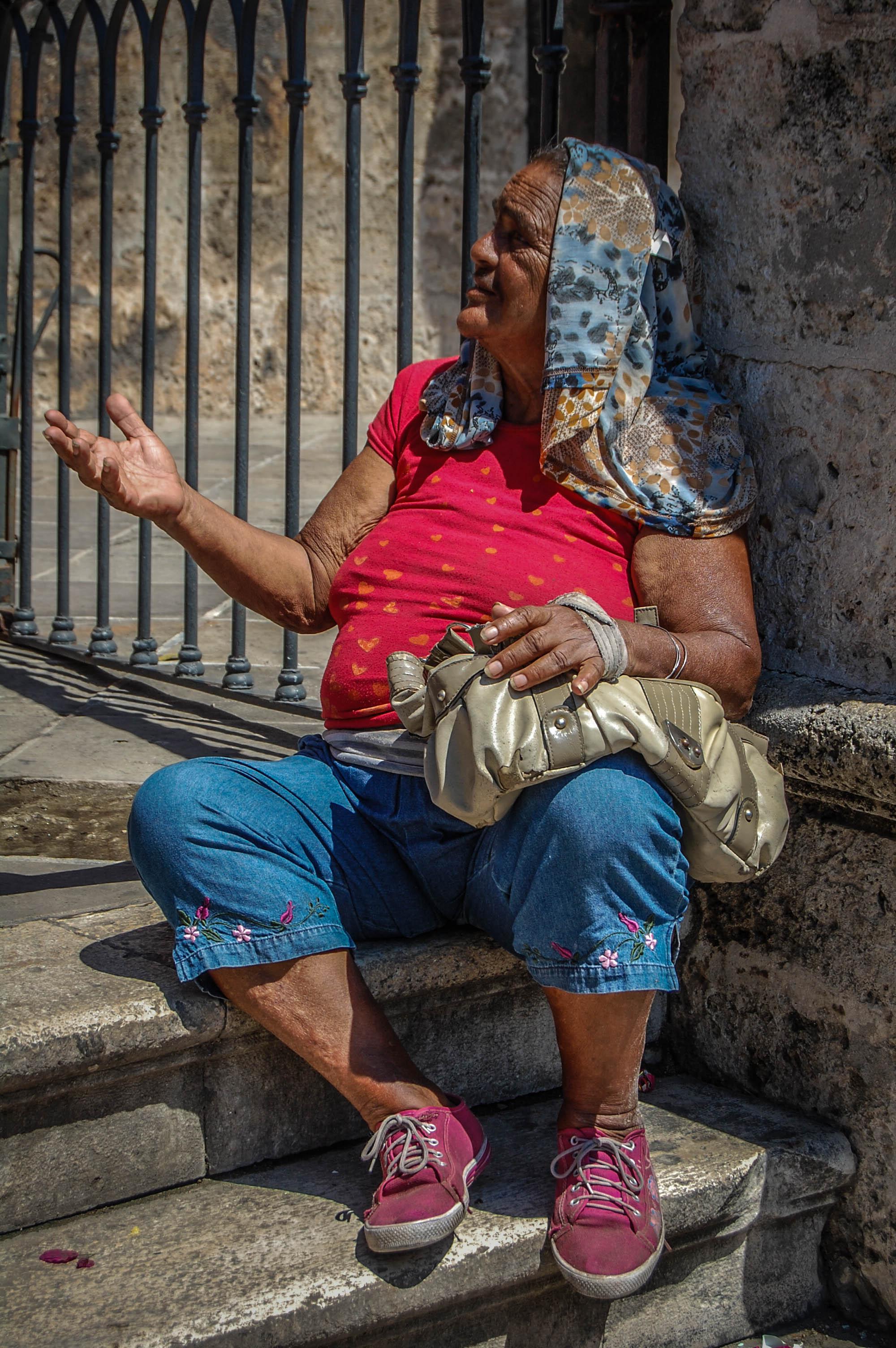 Beggar woman Old Havana, Cuba Nikon D40, 18-55mm F3.5 3.13