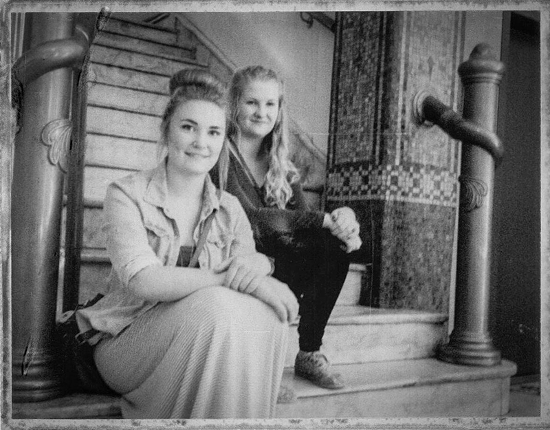 Molly and Amy in Hotel Europe (Flatiron Bldg.) Gastown, Vancouver Polaroid Land Camera Fuji FP3000B pack film 6.13   An instant classic
