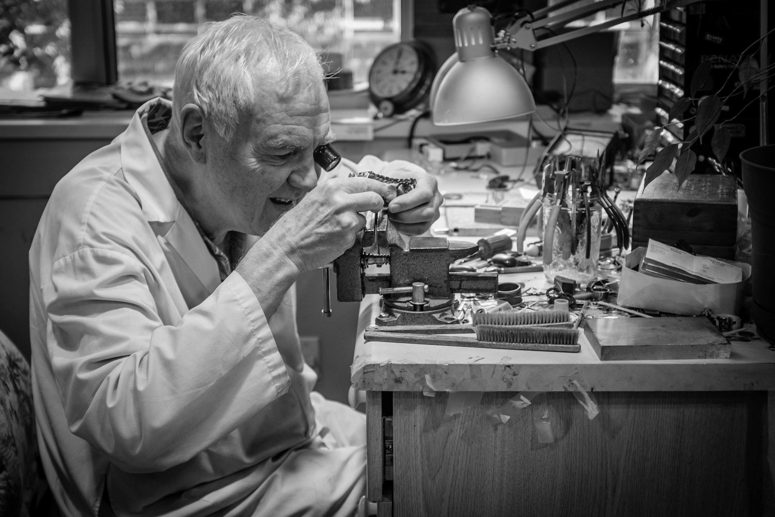 Fritz Irrgang, watchmaker Vancouver Fuji X100T 8.16