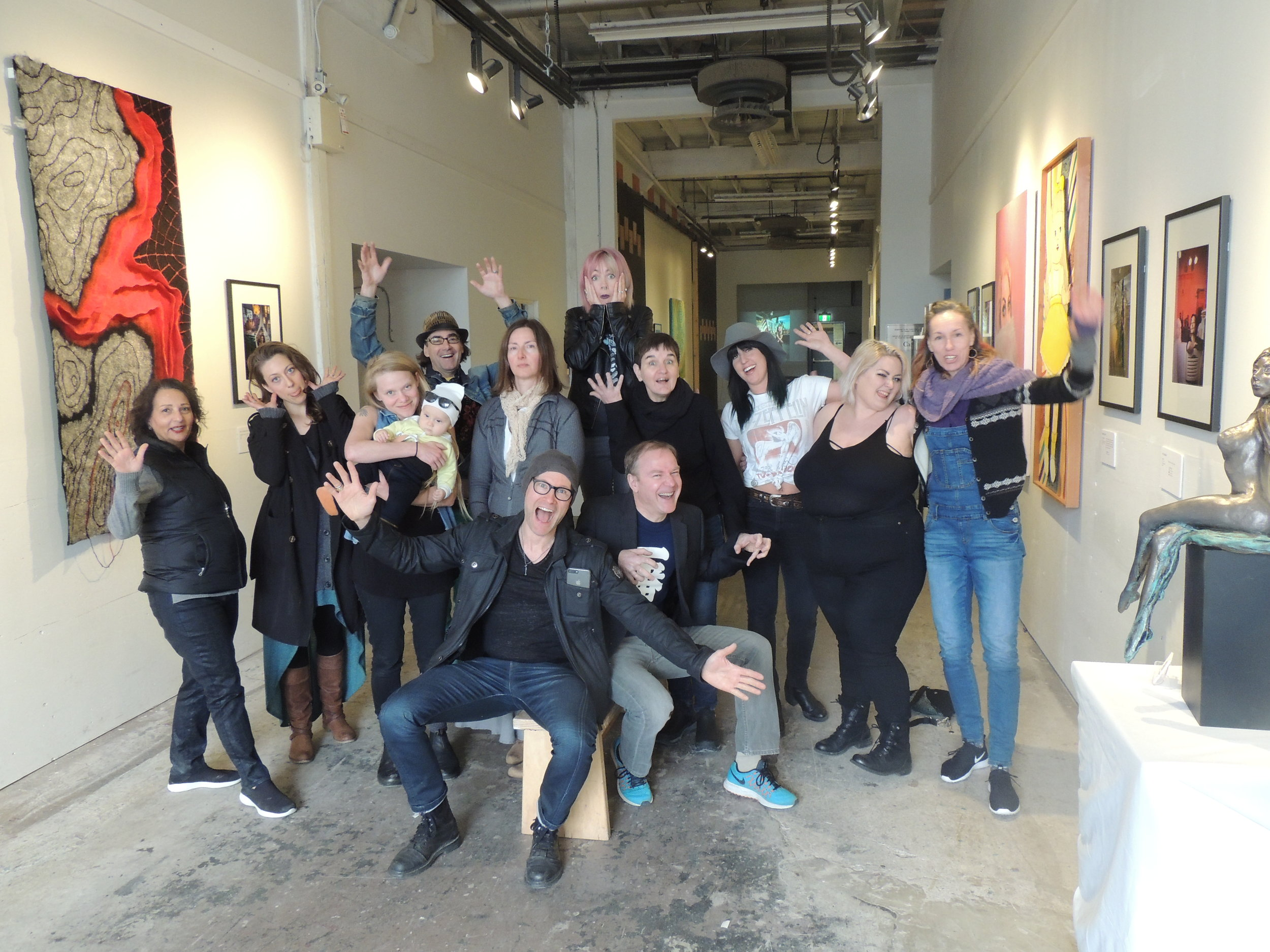 Spring Art Salon - The amazing artists at The Arts Factory invited me to display 15 of my artist portraits at their Spring Salon, April 14-15, 2018. This is one fun and talented group and so great to work with.