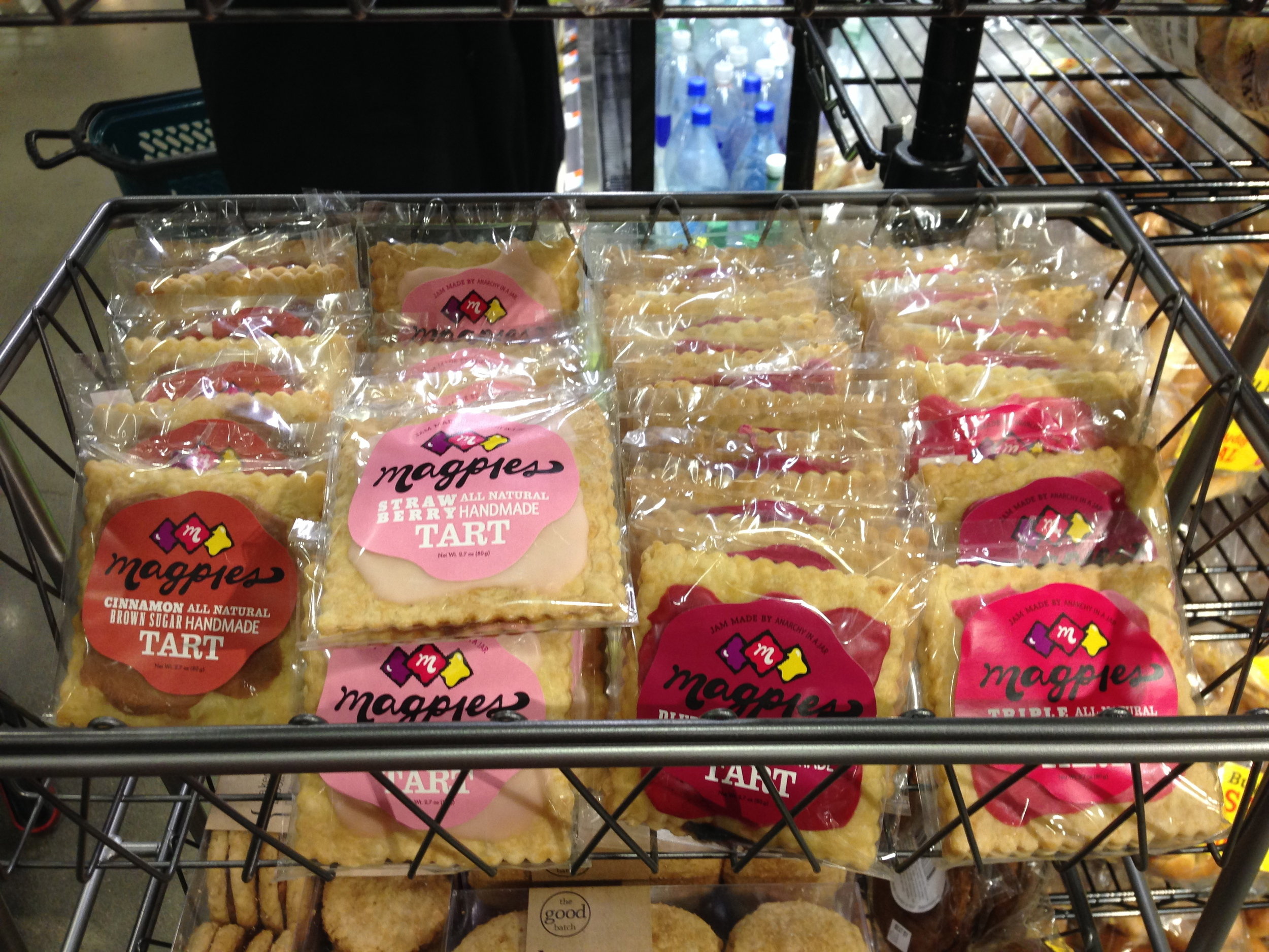 Magpies on display, Whole Foods, Gowanus
