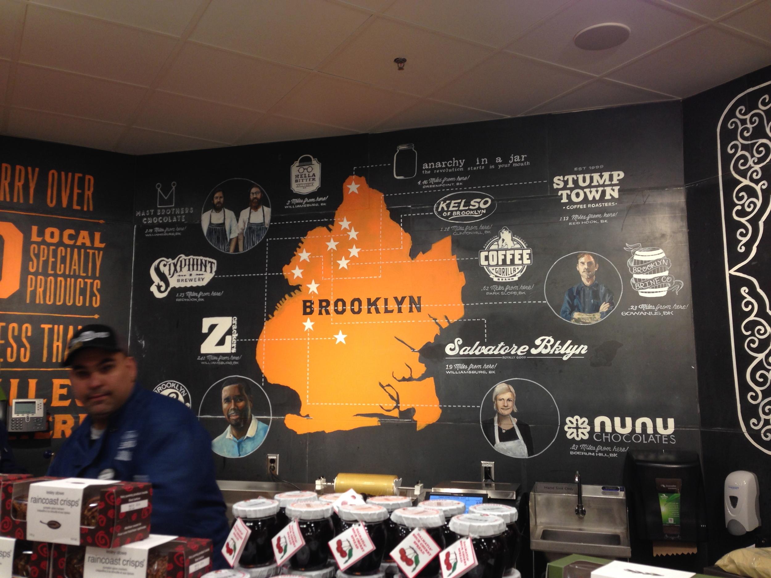 Brooklyn merchants display, Whole Foods, Gowanus