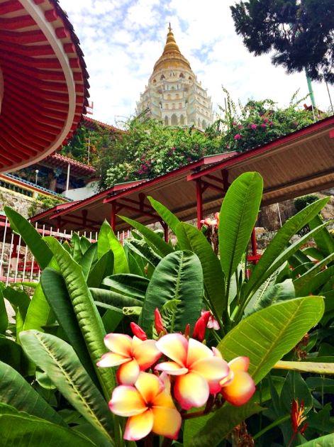 A small part of the beautiful Kek Lok Si Temple in Air Itam, Penang